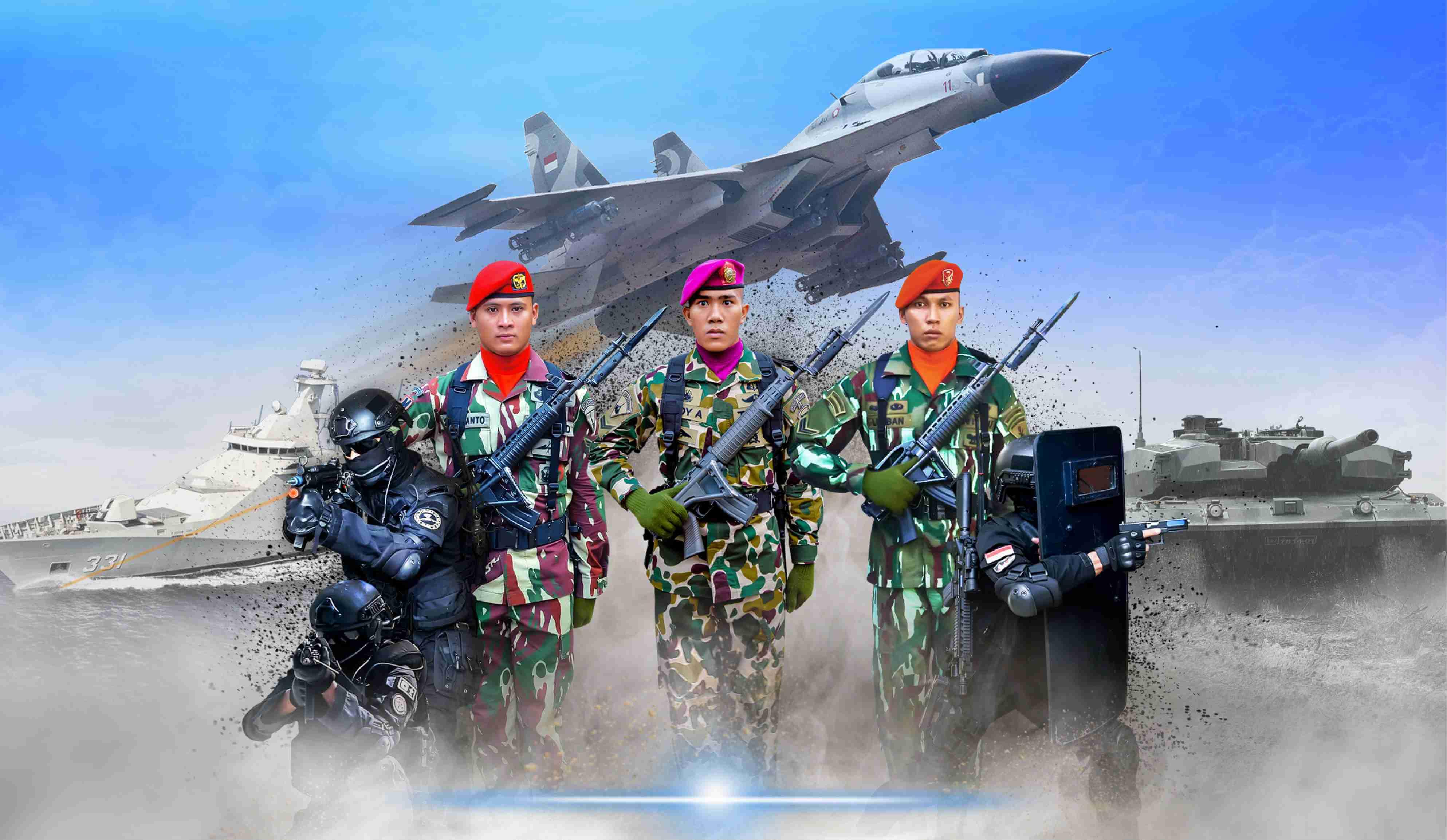 TNI AD AL AU Banner